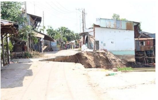 Báo cáo tình hình sạt lở bờ sông Vàm Nao, huyện Chợ Mới, tỉnh An Giang