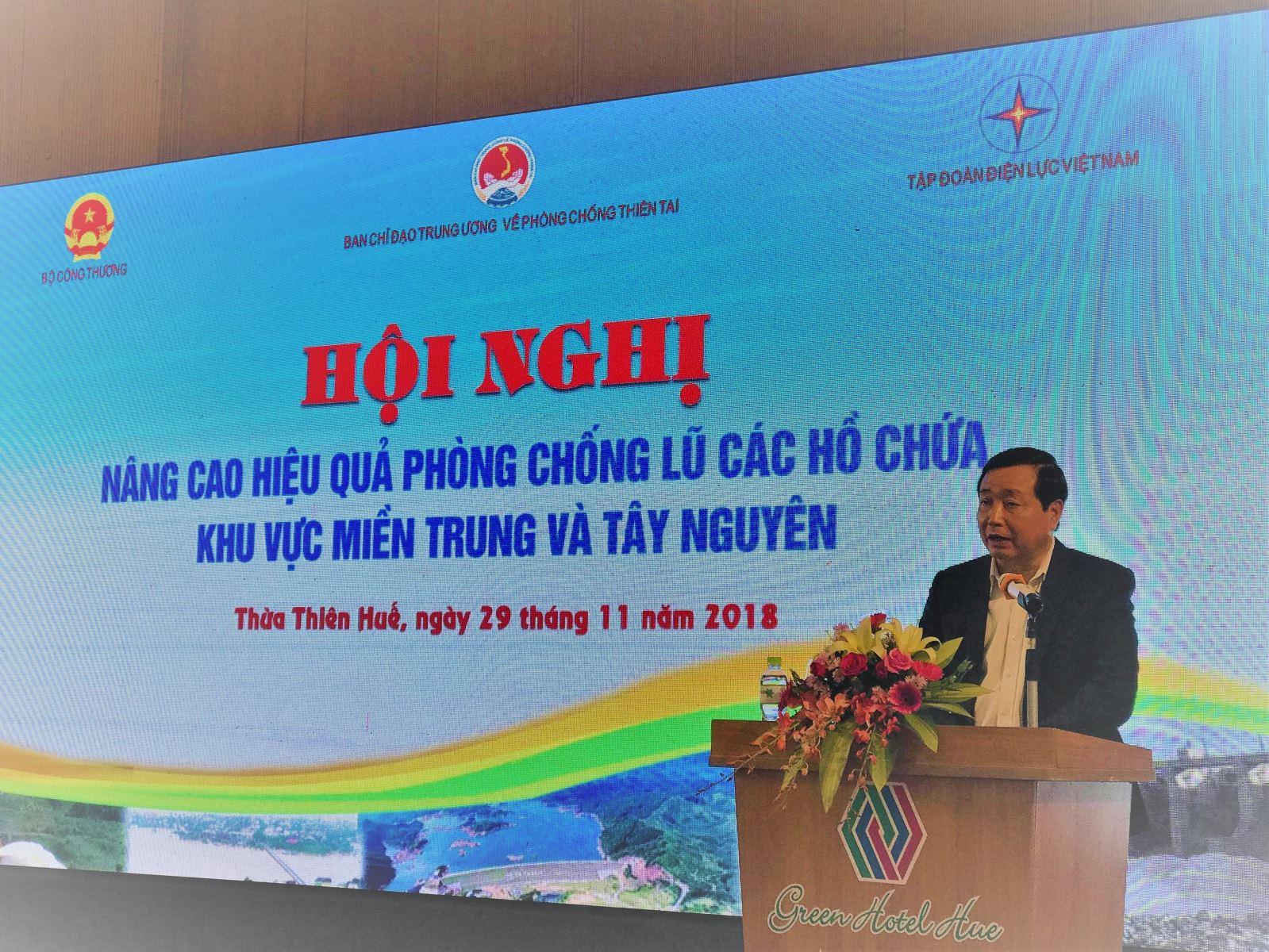 """Hội nghị """"Nâng cao hiệu quả chống lũ các hồ chứa khu vực miền Trung và Tây Nguyên"""""""